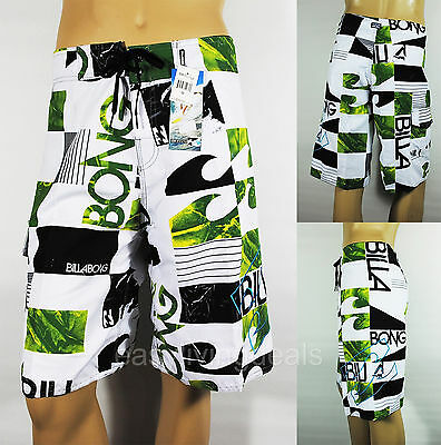 Mens Swim Surf Boardshorts Surfing Pants Surfers Beach Shorts B45-Green Size 38