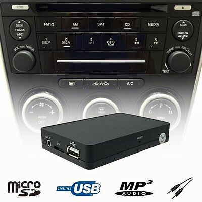 Car Stereo USB SD AUX MP3 WMA Player CD Changer Adapter Mazda 3 5 6 MPV Tribute