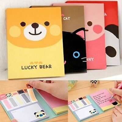 Cute Animals Sticker Memo Notepad Bookmark Post It Marker Flags Sticky Notes