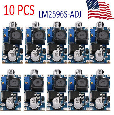 10pcs LM2596S DC-DC Buck Converter Adjustable Power Supply Step Down Module VP