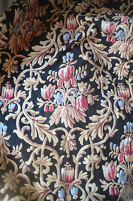 Antique French fabric pure cotton furnishing fabric or curtain