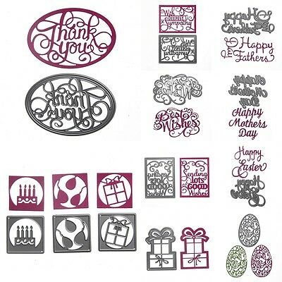 Birthday Metal Cutting Dies Stencils DIY Diray Scrapbook Album