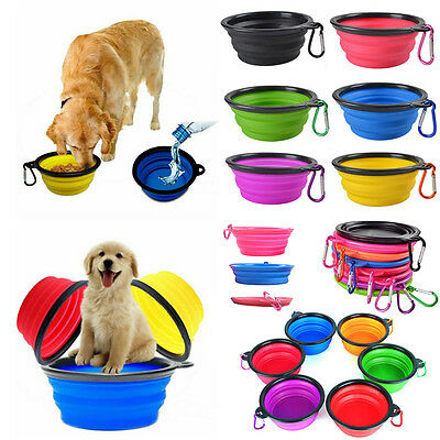 Silicone Foldable Pet Dog Cat Bowl Travel Outdoor Collaspible Water Dish Feeder