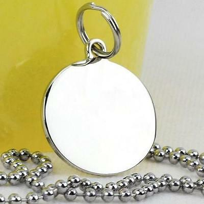 Chain Pet Anti-Lost Round Steel Stainless Dog Tag ID Name