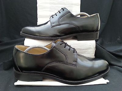 Clarks Top Quality Black Leather Derby Loafers,uk9,in Mint Condition