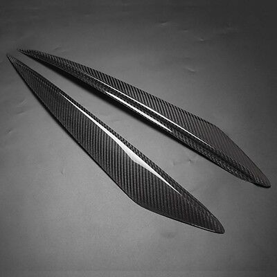 Carbon Fiber Headlight Cover Eyelids Eyebrows Trim for Mazda3 Mazda 3 2010-2013