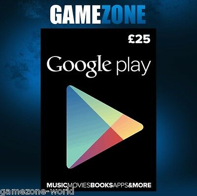 £25 Google PLAY Store UK Gift Card - 25 Pounds Google Play Android GBP Key Code