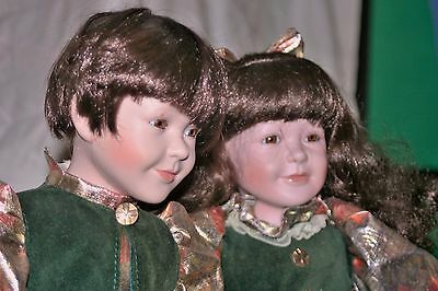 William Tung.twins Collectable Dolls Bisque /porcelain Ln Numbered