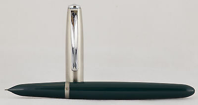 Parker 21 Mark Fountain pen Green. Made in Usa.