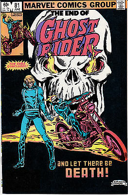 Ghost Rider 81 - Last Issue (Bronze Age 1983) - 9.0