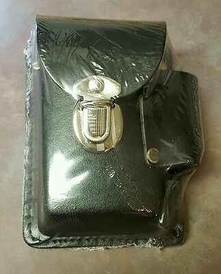 Genuine Leather Black Snap Cigarette Case Up To 100's Made In USA