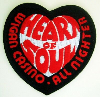 Northern Soul Patch - Wigan Casino Hos - Black Heart Small