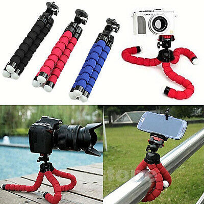 Portable Flexible Sponge Octopus Tripod Stand Mount Holder iPhone Camera Selfie