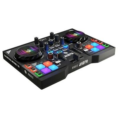 HERCULES INSTINCT P8 ultra-mobile USB DJ Controller with Audio Outputs