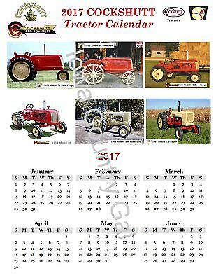 """New 2017 Cockshutt Tractor Laminated Calendar Size 11"""" X 17"""" 2 Sides"""