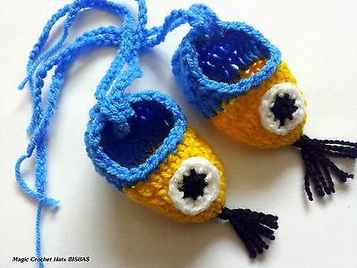 Despicable Me Minion Handmade Crochet baby shoe