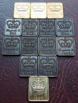 Uk Royal Mint Tokens B/day Anniversary Gift - Choose Your Year! Free Uk Post!
