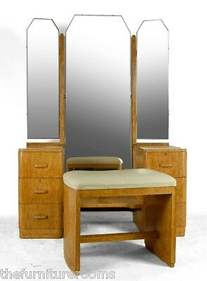 Art Deco Dressing table and stool in Karelian birch C1930