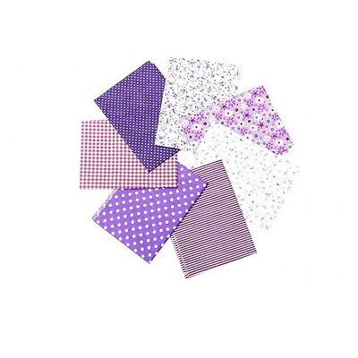 7 coupons tissu pour patchwork Tons Violets - Neuf