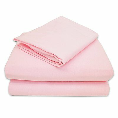 American Baby Company 100% Cotton Jersey Knit Toddler Sheet Set of 3 Color Pink