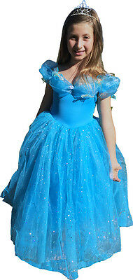 Blue Cinderella Dress Up Costume Fairy Dress 2-4 years