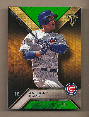 2016 Topps Triple Threads Anthony Rizzo - # 47/250 - Cubs!