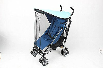 NEW Baby Stroller Sun Canopy Shade with Bug Screen Net | Protective Cover, Hood