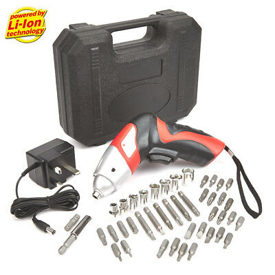 New 4.8V Electric Cordless Rechargeable Lightweight Screwdriver Drill Carry Case