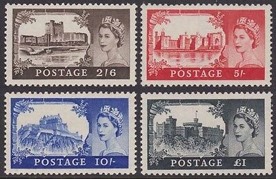GREAT BRITAIN QEII 1955-56 Castles Scott 309-312 SG536-539 Never Hinged cv £225
