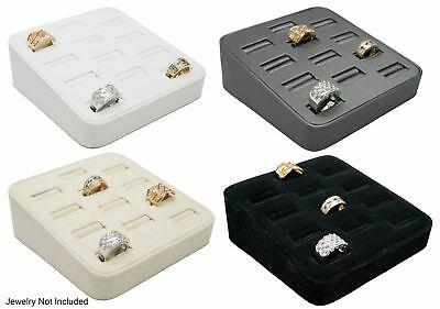 Novel Box™ 12 Slot Ring/Cufflink Tray Stand Holder Jewelry Display