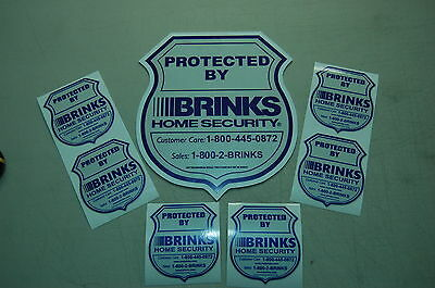 REFLECTIVE BRINKS SIGN and 6 REFLECTIVE STICKERS security yard sign decal window