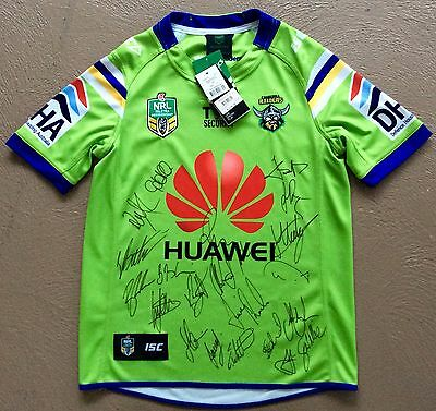 Canberra Raiders Signed 2016 Home Nrl Jersey ***coa ***