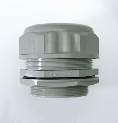 M75 Grey Nylon Cable Gland IP68 56-66mm cable dia. w/ Locknut & Washer