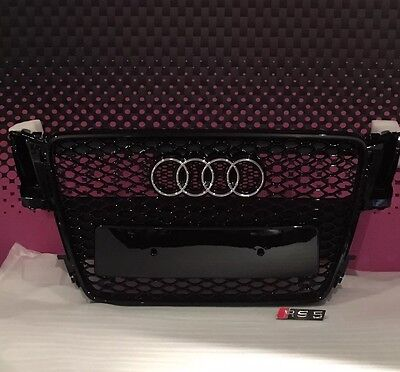Audi rs5 style Front grill gloss black honeycomb uk stock 2007-2011