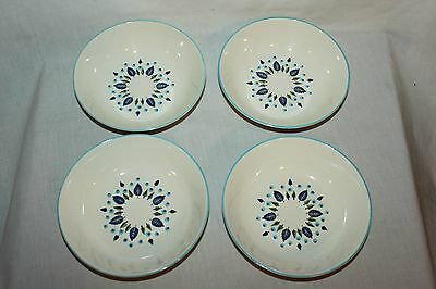 4 Marcrest Swiss Chalet Alpine CEREAL SOUP BOWLS ~ MCM Stetson Tableware ~