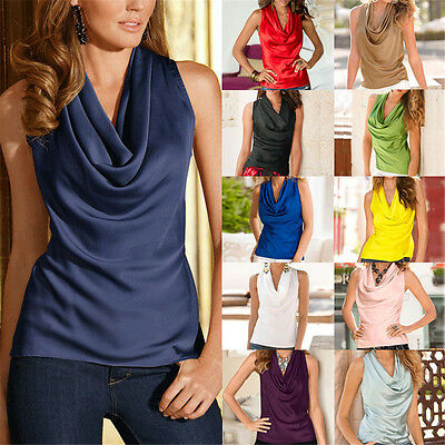 Women Fashion Summer Vest Top Sleeveless Blouse Casual Party V Neck Tops T-Shirt