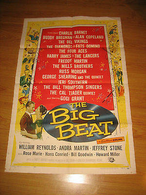 The Big Beat Orig, 1sh Movie Poster 58 blues & rock and roll Fats, Domino!