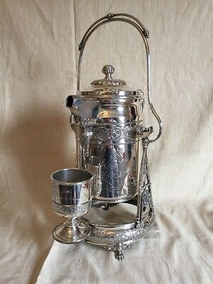 Victorian Silverplate Water Pitcher On Stand Wilcox Silver Co Meriden, CT