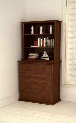 NEW Bebecare 4 Drawer Chest & Modular Bookcase Walnut #`B0104