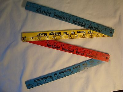 "Rare ATLANTIC RICHFIELD Boron Gasoline wooden 47"" yardstick"