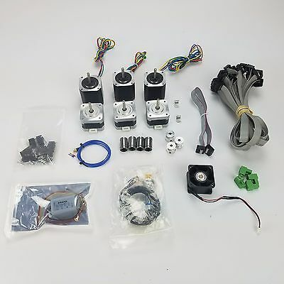 7 Stepper Motors, 3D Printer Parts, Fans, Connectors,much more than pic MUST SEE