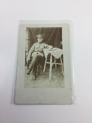Wwi Photo Of Of German Officer Soldier Posing Photo Postcard