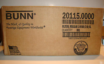 New Lot Of 2 Sealed Cases Of Bunn 12 Cup Coffee Filters 1,000 Per Case