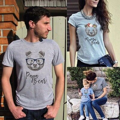 Family Matching Outfits T-shirt Mother Father Daughter DADDY and Baby's Tee Tops
