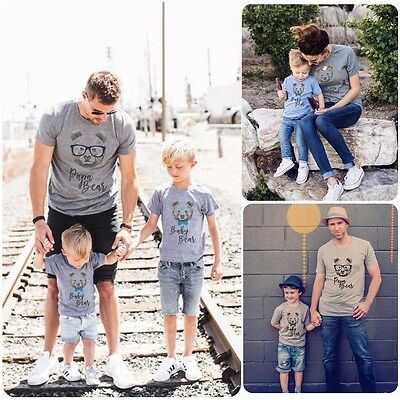 Family Matching Outfits T-shirt Mother Father Daughter DADDY and Baby's Tee Top