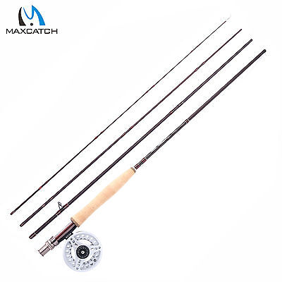 Maxcatch LW5 Fly Fishing Combo 9FT 4Sec IM10 Medium Fast Fly Fishing Rod & Reel