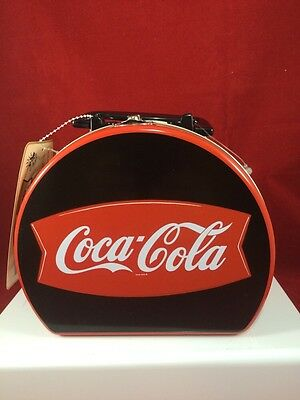 Coca Cola Round Lunchbox Tin with Handle. Excellent Condition Coke Tin Box