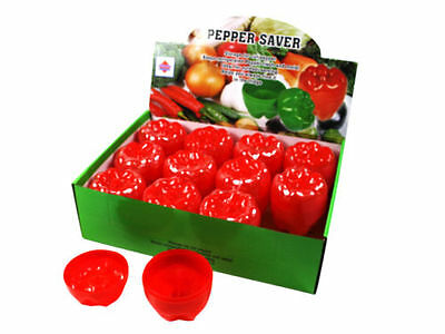2x RED PEPPER SAVER Keeper Store Container Fresher For Longer Bulk Price 10021