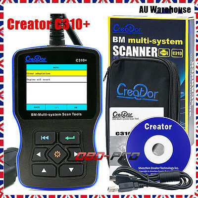 NEW Creator C310+ V6.1 OBDII BM-Multi-System Fault Code Reader For BMW Scan Tool