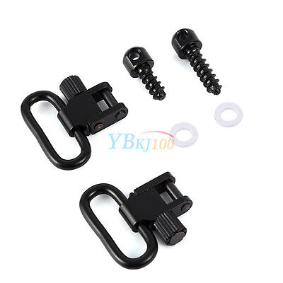 "1"" QD Rifle Sling Mounting Set Quick Detach Swivels & Screw Stud Base Kit Tool"